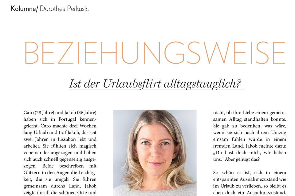 Dorothea Perkusic: Ist der Urlaubsflirt alltagstauglich?