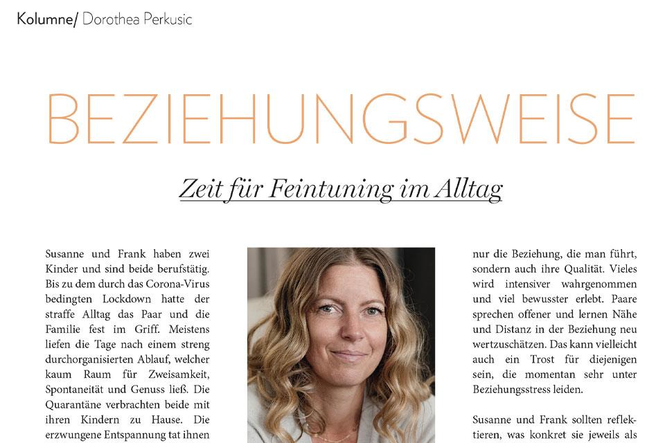 Dorothea Perkusic: Zeit für Feintuning im Alltag