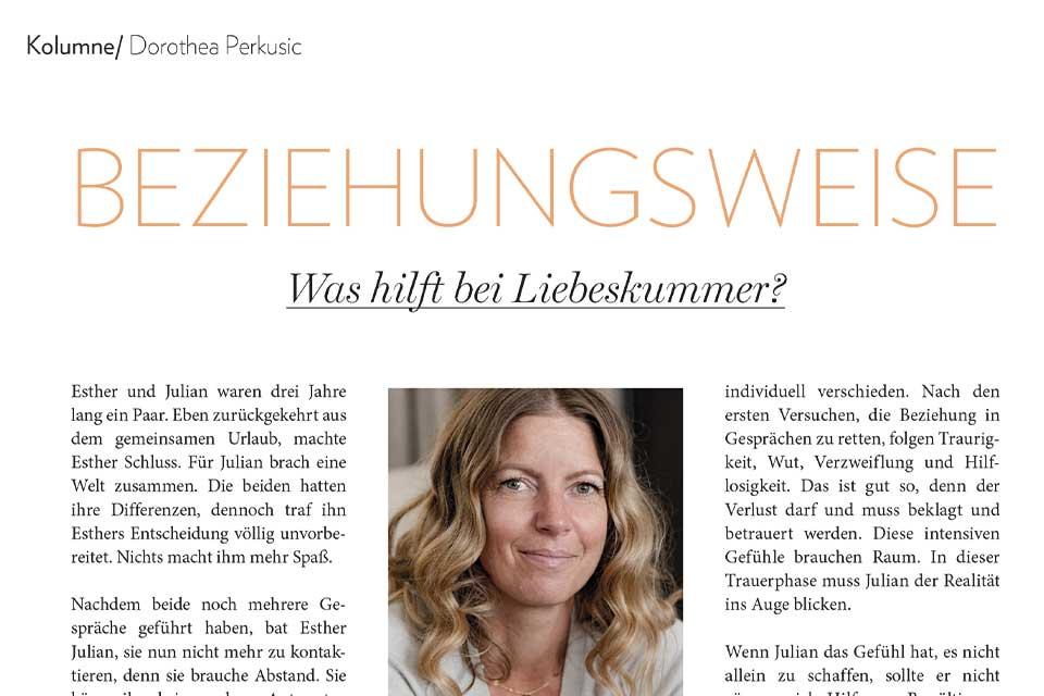 Dorothea Perkusic: Was hilft bei Liebeskummer?